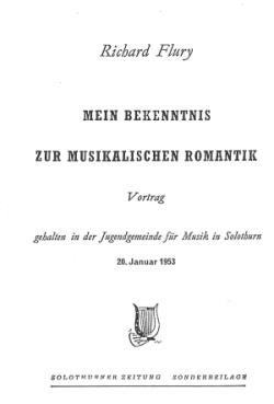 Mein Bekenntnis zur musikalischen Romantik